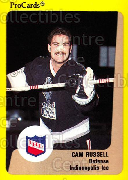 1989-90 ProCards IHL #71 Cam Russell<br/>3 In Stock - $2.00 each - <a href=https://centericecollectibles.foxycart.com/cart?name=1989-90%20ProCards%20IHL%20%2371%20Cam%20Russell...&quantity_max=3&price=$2.00&code=140372 class=foxycart> Buy it now! </a>