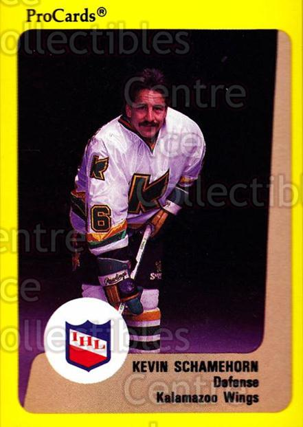 1989-90 ProCards IHL #75 Kevin Schamehorn<br/>3 In Stock - $2.00 each - <a href=https://centericecollectibles.foxycart.com/cart?name=1989-90%20ProCards%20IHL%20%2375%20Kevin%20Schamehor...&quantity_max=3&price=$2.00&code=140376 class=foxycart> Buy it now! </a>