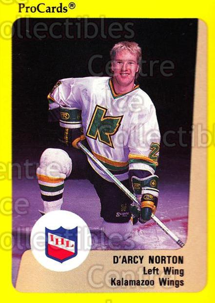 1989-90 ProCards IHL #77 Darcy Norton<br/>9 In Stock - $2.00 each - <a href=https://centericecollectibles.foxycart.com/cart?name=1989-90%20ProCards%20IHL%20%2377%20Darcy%20Norton...&quantity_max=9&price=$2.00&code=140378 class=foxycart> Buy it now! </a>