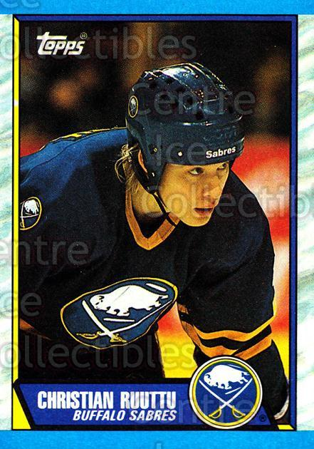 1989-90 Topps #68 Christian Ruuttu<br/>5 In Stock - $1.00 each - <a href=https://centericecollectibles.foxycart.com/cart?name=1989-90%20Topps%20%2368%20Christian%20Ruutt...&quantity_max=5&price=$1.00&code=140401 class=foxycart> Buy it now! </a>