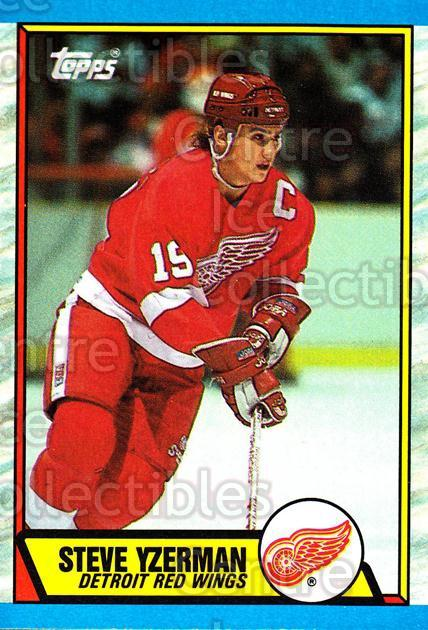 1989-90 Topps #83 Steve Yzerman<br/>12 In Stock - $2.00 each - <a href=https://centericecollectibles.foxycart.com/cart?name=1989-90%20Topps%20%2383%20Steve%20Yzerman...&price=$2.00&code=140417 class=foxycart> Buy it now! </a>