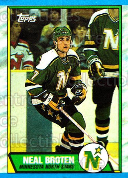 1989-90 Topps #87 Neal Broten<br/>4 In Stock - $1.00 each - <a href=https://centericecollectibles.foxycart.com/cart?name=1989-90%20Topps%20%2387%20Neal%20Broten...&quantity_max=4&price=$1.00&code=140421 class=foxycart> Buy it now! </a>