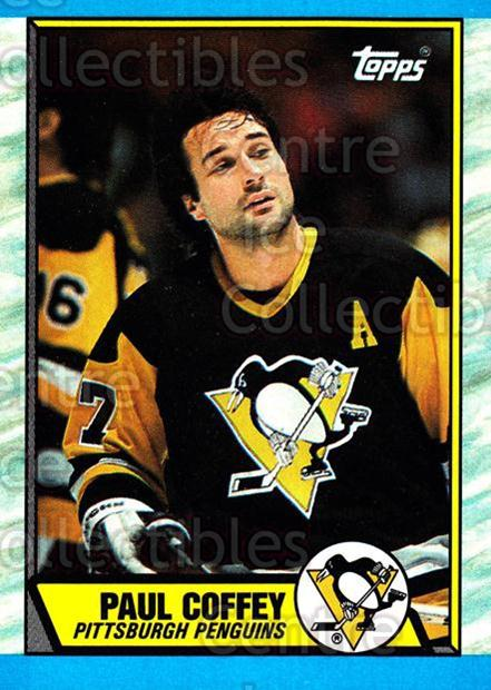 1989-90 Topps #95 Paul Coffey<br/>3 In Stock - $2.00 each - <a href=https://centericecollectibles.foxycart.com/cart?name=1989-90%20Topps%20%2395%20Paul%20Coffey...&quantity_max=3&price=$2.00&code=140429 class=foxycart> Buy it now! </a>