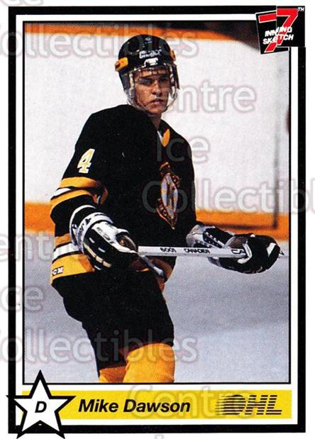 1990-91 7th Inning Sketch OHL #56 Mike Dawson<br/>5 In Stock - $1.00 each - <a href=https://centericecollectibles.foxycart.com/cart?name=1990-91%207th%20Inning%20Sketch%20OHL%20%2356%20Mike%20Dawson...&price=$1.00&code=140635 class=foxycart> Buy it now! </a>