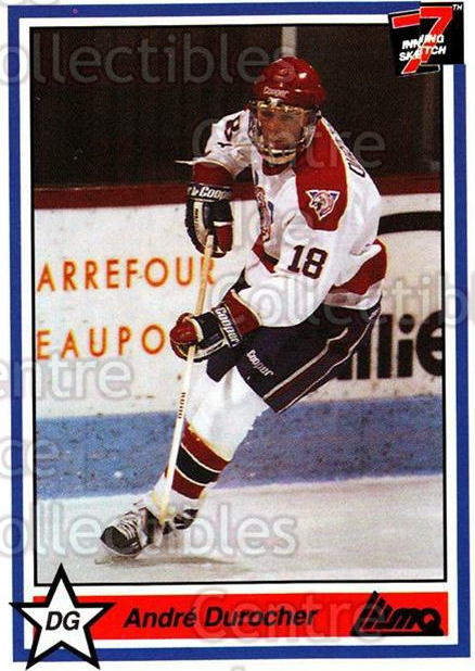 1990-91 7th Inning Sketch QMJHL #257 Andre Durocher<br/>9 In Stock - $1.00 each - <a href=https://centericecollectibles.foxycart.com/cart?name=1990-91%207th%20Inning%20Sketch%20QMJHL%20%23257%20Andre%20Durocher...&quantity_max=9&price=$1.00&code=140707 class=foxycart> Buy it now! </a>