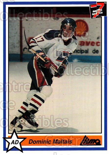 1990-91 7th Inning Sketch QMJHL #85 Dominic Maltais<br/>8 In Stock - $1.00 each - <a href=https://centericecollectibles.foxycart.com/cart?name=1990-91%207th%20Inning%20Sketch%20QMJHL%20%2385%20Dominic%20Maltais...&quantity_max=8&price=$1.00&code=140782 class=foxycart> Buy it now! </a>