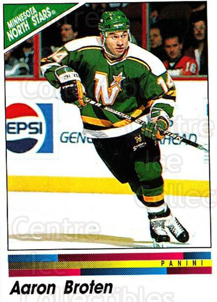1990-91 Panini Stickers #247 Aaron Broten<br/>9 In Stock - $1.00 each - <a href=https://centericecollectibles.foxycart.com/cart?name=1990-91%20Panini%20Stickers%20%23247%20Aaron%20Broten...&quantity_max=9&price=$1.00&code=141151 class=foxycart> Buy it now! </a>