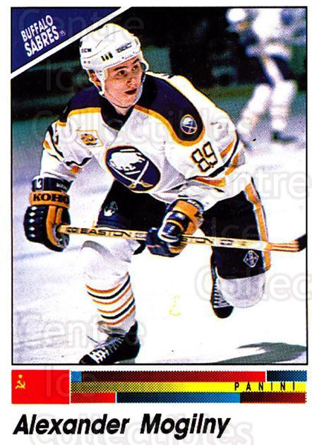 1990-91 Panini Stickers #338 Alexander Mogilny<br/>5 In Stock - $1.00 each - <a href=https://centericecollectibles.foxycart.com/cart?name=1990-91%20Panini%20Stickers%20%23338%20Alexander%20Mogil...&quantity_max=5&price=$1.00&code=141247 class=foxycart> Buy it now! </a>