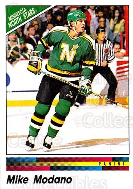 1990-91 Panini Stickers #340 Mike Modano<br/>6 In Stock - $1.00 each - <a href=https://centericecollectibles.foxycart.com/cart?name=1990-91%20Panini%20Stickers%20%23340%20Mike%20Modano...&quantity_max=6&price=$1.00&code=141250 class=foxycart> Buy it now! </a>