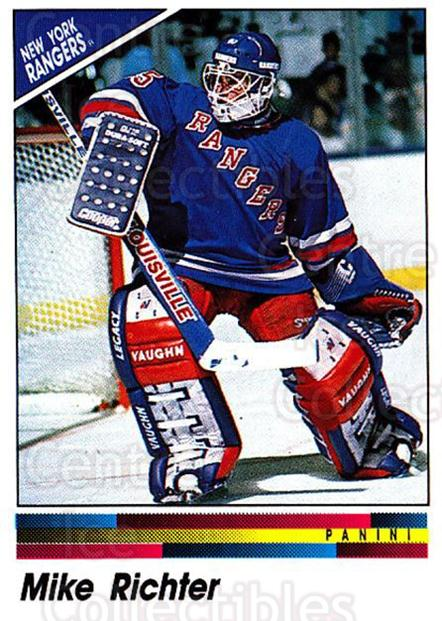 1990-91 Panini Stickers #345 Mike Richter<br/>7 In Stock - $1.00 each - <a href=https://centericecollectibles.foxycart.com/cart?name=1990-91%20Panini%20Stickers%20%23345%20Mike%20Richter...&quantity_max=7&price=$1.00&code=141255 class=foxycart> Buy it now! </a>