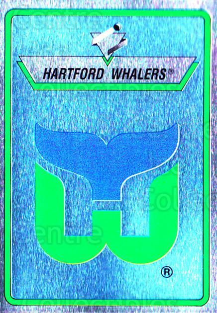 1990-91 Panini Stickers #42 Hartford Whalers<br/>7 In Stock - $1.00 each - <a href=https://centericecollectibles.foxycart.com/cart?name=1990-91%20Panini%20Stickers%20%2342%20Hartford%20Whaler...&quantity_max=7&price=$1.00&code=141270 class=foxycart> Buy it now! </a>
