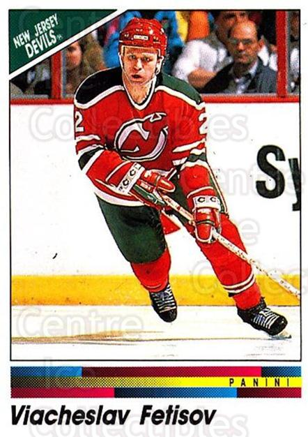 1990-91 Panini Stickers #75 Vyacheslav Fetisov<br/>9 In Stock - $1.00 each - <a href=https://centericecollectibles.foxycart.com/cart?name=1990-91%20Panini%20Stickers%20%2375%20Vyacheslav%20Feti...&quantity_max=9&price=$1.00&code=141305 class=foxycart> Buy it now! </a>