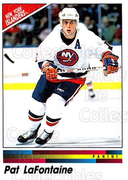 1990-91 Panini Stickers #81 Pat LaFontaine<br/>11 In Stock - $1.00 each - <a href=https://centericecollectibles.foxycart.com/cart?name=1990-91%20Panini%20Stickers%20%2381%20Pat%20LaFontaine...&quantity_max=11&price=$1.00&code=141312 class=foxycart> Buy it now! </a>
