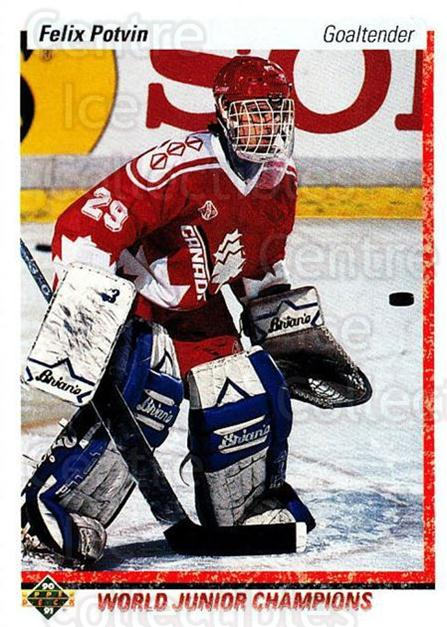 1990-91 Upper Deck #458 Felix Potvin<br/>15 In Stock - $2.00 each - <a href=https://centericecollectibles.foxycart.com/cart?name=1990-91%20Upper%20Deck%20%23458%20Felix%20Potvin...&price=$2.00&code=142002 class=foxycart> Buy it now! </a>