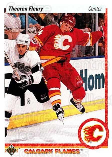 1990-91 Upper Deck #47 Theo Fleury<br/>4 In Stock - $1.00 each - <a href=https://centericecollectibles.foxycart.com/cart?name=1990-91%20Upper%20Deck%20%2347%20Theo%20Fleury...&quantity_max=4&price=$1.00&code=142014 class=foxycart> Buy it now! </a>