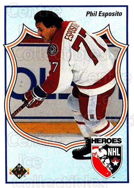 1990-91 Upper Deck #510 Phil Esposito<br/>26 In Stock - $2.00 each - <a href=https://centericecollectibles.foxycart.com/cart?name=1990-91%20Upper%20Deck%20%23510%20Phil%20Esposito...&quantity_max=26&price=$2.00&code=142059 class=foxycart> Buy it now! </a>
