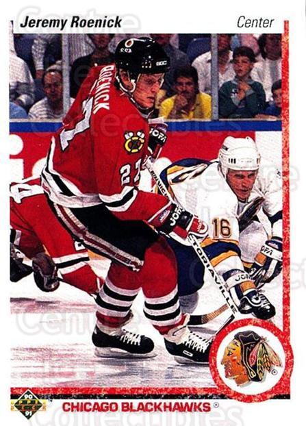 1990-91 Upper Deck #63 Jeremy Roenick<br/>8 In Stock - $2.00 each - <a href=https://centericecollectibles.foxycart.com/cart?name=1990-91%20Upper%20Deck%20%2363%20Jeremy%20Roenick...&price=$2.00&code=142107 class=foxycart> Buy it now! </a>
