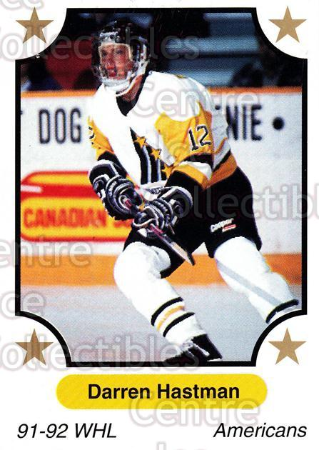 1991-92 7th Inning Sketch WHL #294 Darren Hastman<br/>6 In Stock - $1.00 each - <a href=https://centericecollectibles.foxycart.com/cart?name=1991-92%207th%20Inning%20Sketch%20WHL%20%23294%20Darren%20Hastman...&price=$1.00&code=142541 class=foxycart> Buy it now! </a>
