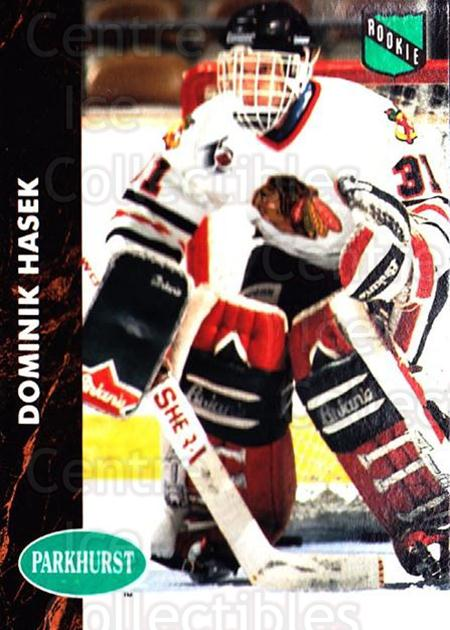 1991-92 Parkhurst #263 Dominik Hasek<br/>7 In Stock - $3.00 each - <a href=https://centericecollectibles.foxycart.com/cart?name=1991-92%20Parkhurst%20%23263%20Dominik%20Hasek...&price=$3.00&code=143340 class=foxycart> Buy it now! </a>