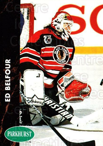 1991-92 Parkhurst #30 Ed Belfour<br/>4 In Stock - $1.00 each - <a href=https://centericecollectibles.foxycart.com/cart?name=1991-92%20Parkhurst%20%2330%20Ed%20Belfour...&price=$1.00&code=143381 class=foxycart> Buy it now! </a>