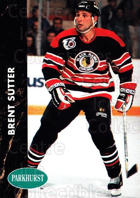 1991-92 Parkhurst #35 Brent Sutter<br/>4 In Stock - $1.00 each - <a href=https://centericecollectibles.foxycart.com/cart?name=1991-92%20Parkhurst%20%2335%20Brent%20Sutter...&quantity_max=4&price=$1.00&code=143433 class=foxycart> Buy it now! </a>
