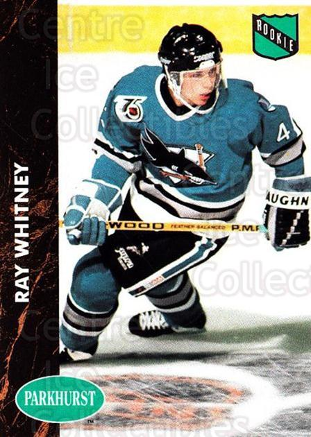 1991-92 Parkhurst #454 Ray Whitney<br/>5 In Stock - $2.00 each - <a href=https://centericecollectibles.foxycart.com/cart?name=1991-92%20Parkhurst%20%23454%20Ray%20Whitney...&price=$2.00&code=143539 class=foxycart> Buy it now! </a>