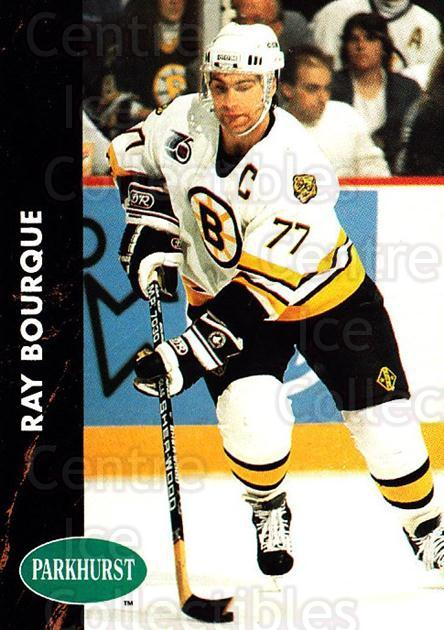 1991-92 Parkhurst #9 Ray Bourque<br/>2 In Stock - $1.00 each - <a href=https://centericecollectibles.foxycart.com/cart?name=1991-92%20Parkhurst%20%239%20Ray%20Bourque...&quantity_max=2&price=$1.00&code=143599 class=foxycart> Buy it now! </a>