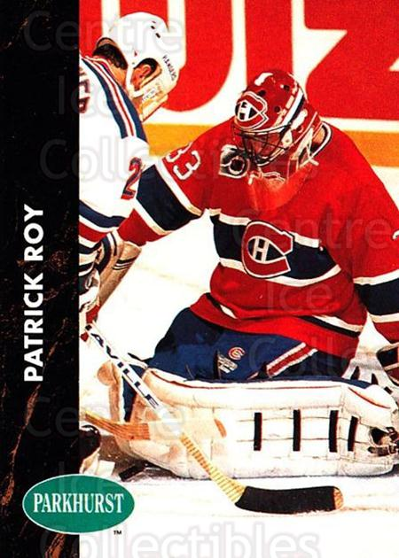 1991-92 Parkhurst #90 Patrick Roy<br/>1 In Stock - $2.00 each - <a href=https://centericecollectibles.foxycart.com/cart?name=1991-92%20Parkhurst%20%2390%20Patrick%20Roy...&quantity_max=1&price=$2.00&code=143600 class=foxycart> Buy it now! </a>
