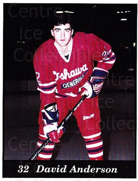 1991-92 Oshawa Generals B #6 David Anderson<br/>6 In Stock - $3.00 each - <a href=https://centericecollectibles.foxycart.com/cart?name=1991-92%20Oshawa%20Generals%20B%20%236%20David%20Anderson...&quantity_max=6&price=$3.00&code=14366 class=foxycart> Buy it now! </a>