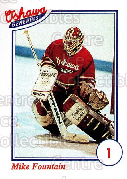 1991-92 Oshawa Generals A #1 Mike Fountain<br/>9 In Stock - $3.00 each - <a href=https://centericecollectibles.foxycart.com/cart?name=1991-92%20Oshawa%20Generals%20A%20%231%20Mike%20Fountain...&quantity_max=9&price=$3.00&code=14370 class=foxycart> Buy it now! </a>