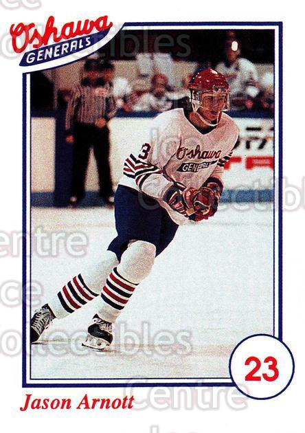 1991-92 Oshawa Generals A #20 Jason Arnott<br/>9 In Stock - $3.00 each - <a href=https://centericecollectibles.foxycart.com/cart?name=1991-92%20Oshawa%20Generals%20A%20%2320%20Jason%20Arnott...&quantity_max=9&price=$3.00&code=14381 class=foxycart> Buy it now! </a>