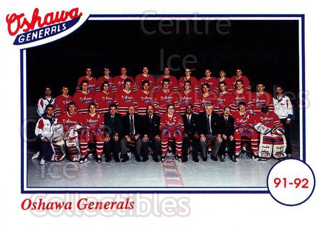 1991-92 Oshawa Generals Set A #29 Oshawa Generals, Team Photo<br/>8 In Stock - $2.00 each - <a href=https://centericecollectibles.foxycart.com/cart?name=1991-92%20Oshawa%20Generals%20Set%20A%20%2329%20Oshawa%20Generals...&price=$2.00&code=14390 class=foxycart> Buy it now! </a>
