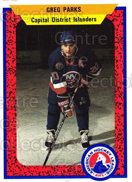 1991-92 ProCards AHL IHL #462 Greg Parks<br/>4 In Stock - $2.00 each - <a href=https://centericecollectibles.foxycart.com/cart?name=1991-92%20ProCards%20AHL%20IHL%20%23462%20Greg%20Parks...&price=$2.00&code=144376 class=foxycart> Buy it now! </a>