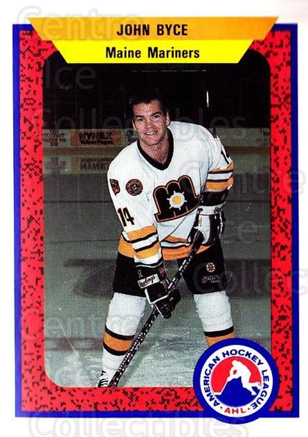 1991-92 ProCards AHL IHL #59 John Byce<br/>6 In Stock - $2.00 each - <a href=https://centericecollectibles.foxycart.com/cart?name=1991-92%20ProCards%20AHL%20IHL%20%2359%20John%20Byce...&quantity_max=6&price=$2.00&code=144443 class=foxycart> Buy it now! </a>