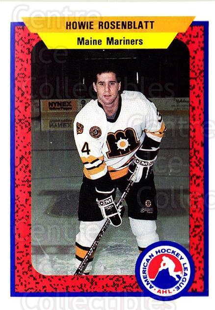 1991-92 ProCards AHL IHL #60 Howie Rosenblatt<br/>3 In Stock - $2.00 each - <a href=https://centericecollectibles.foxycart.com/cart?name=1991-92%20ProCards%20AHL%20IHL%20%2360%20Howie%20Rosenblat...&quantity_max=3&price=$2.00&code=144455 class=foxycart> Buy it now! </a>