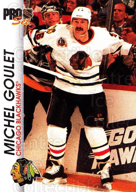 1992-93 Pro Set #32 Michel Goulet<br/>5 In Stock - $1.00 each - <a href=https://centericecollectibles.foxycart.com/cart?name=1992-93%20Pro%20Set%20%2332%20Michel%20Goulet...&quantity_max=5&price=$1.00&code=145361 class=foxycart> Buy it now! </a>