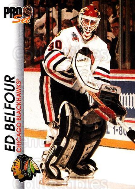 1992-93 Pro Set #33 Ed Belfour<br/>3 In Stock - $1.00 each - <a href=https://centericecollectibles.foxycart.com/cart?name=1992-93%20Pro%20Set%20%2333%20Ed%20Belfour...&price=$1.00&code=145362 class=foxycart> Buy it now! </a>
