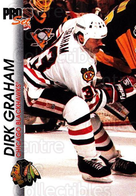 1992-93 Pro Set #38 Dirk Graham<br/>6 In Stock - $1.00 each - <a href=https://centericecollectibles.foxycart.com/cart?name=1992-93%20Pro%20Set%20%2338%20Dirk%20Graham...&quantity_max=6&price=$1.00&code=145367 class=foxycart> Buy it now! </a>