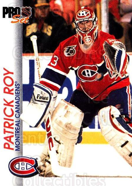 1992-93 Pro Set #85 Patrick Roy<br/>3 In Stock - $2.00 each - <a href=https://centericecollectibles.foxycart.com/cart?name=1992-93%20Pro%20Set%20%2385%20Patrick%20Roy...&quantity_max=3&price=$2.00&code=145414 class=foxycart> Buy it now! </a>