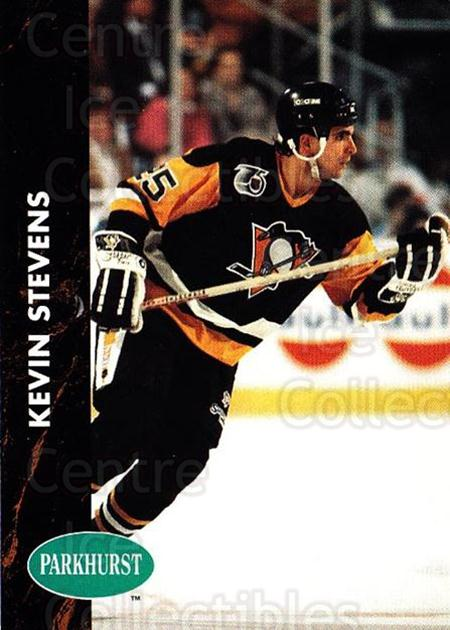 1991-92 Parkhurst #135 Kevin Stevens<br/>5 In Stock - $1.00 each - <a href=https://centericecollectibles.foxycart.com/cart?name=1991-92%20Parkhurst%20%23135%20Kevin%20Stevens...&quantity_max=5&price=$1.00&code=14595 class=foxycart> Buy it now! </a>