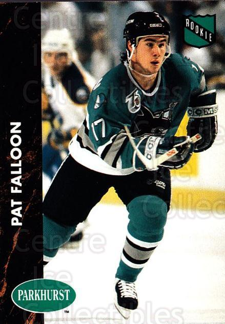 1991-92 Parkhurst #160 Pat Falloon<br/>5 In Stock - $1.00 each - <a href=https://centericecollectibles.foxycart.com/cart?name=1991-92%20Parkhurst%20%23160%20Pat%20Falloon...&quantity_max=5&price=$1.00&code=14622 class=foxycart> Buy it now! </a>