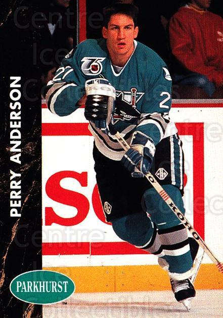 1991-92 Parkhurst #164 Perry Anderson<br/>4 In Stock - $1.00 each - <a href=https://centericecollectibles.foxycart.com/cart?name=1991-92%20Parkhurst%20%23164%20Perry%20Anderson...&quantity_max=4&price=$1.00&code=14626 class=foxycart> Buy it now! </a>