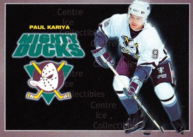 1994-95 Anaheim Mighty Ducks Carls Jr. #10 Paul Kariya<br/>2 In Stock - $3.00 each - <a href=https://centericecollectibles.foxycart.com/cart?name=1994-95%20Anaheim%20Mighty%20Ducks%20Carls%20Jr.%20%2310%20Paul%20Kariya...&quantity_max=2&price=$3.00&code=1462 class=foxycart> Buy it now! </a>