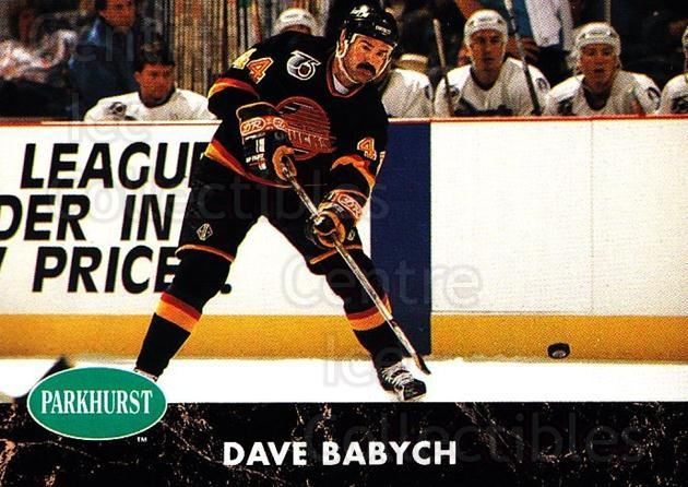1991-92 Parkhurst #187 Dave Babych<br/>4 In Stock - $1.00 each - <a href=https://centericecollectibles.foxycart.com/cart?name=1991-92%20Parkhurst%20%23187%20Dave%20Babych...&quantity_max=4&price=$1.00&code=14649 class=foxycart> Buy it now! </a>
