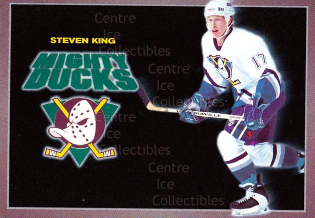 1994-95 Anaheim Mighty Ducks Carls Jr. #12 Steven King<br/>14 In Stock - $3.00 each - <a href=https://centericecollectibles.foxycart.com/cart?name=1994-95%20Anaheim%20Mighty%20Ducks%20Carls%20Jr.%20%2312%20Steven%20King...&quantity_max=14&price=$3.00&code=1464 class=foxycart> Buy it now! </a>