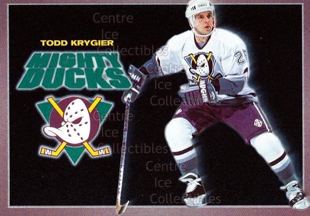 1994-95 Anaheim Mighty Ducks Carls Jr. #13 Todd Krygier<br/>14 In Stock - $3.00 each - <a href=https://centericecollectibles.foxycart.com/cart?name=1994-95%20Anaheim%20Mighty%20Ducks%20Carls%20Jr.%20%2313%20Todd%20Krygier...&quantity_max=14&price=$3.00&code=1465 class=foxycart> Buy it now! </a>