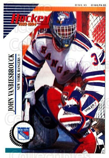 1993-94 Panini Stickers #98 John Vanbiesbrouck<br/>5 In Stock - $1.00 each - <a href=https://centericecollectibles.foxycart.com/cart?name=1993-94%20Panini%20Stickers%20%2398%20John%20Vanbiesbro...&quantity_max=5&price=$1.00&code=146606 class=foxycart> Buy it now! </a>