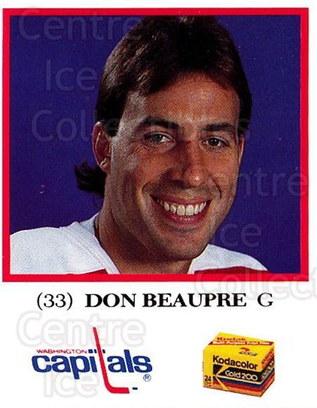 1991-92 Washington Capitals Kodak #1 Don Beaupre<br/>2 In Stock - $3.00 each - <a href=https://centericecollectibles.foxycart.com/cart?name=1991-92%20Washington%20Capitals%20Kodak%20%231%20Don%20Beaupre...&quantity_max=2&price=$3.00&code=14660 class=foxycart> Buy it now! </a>