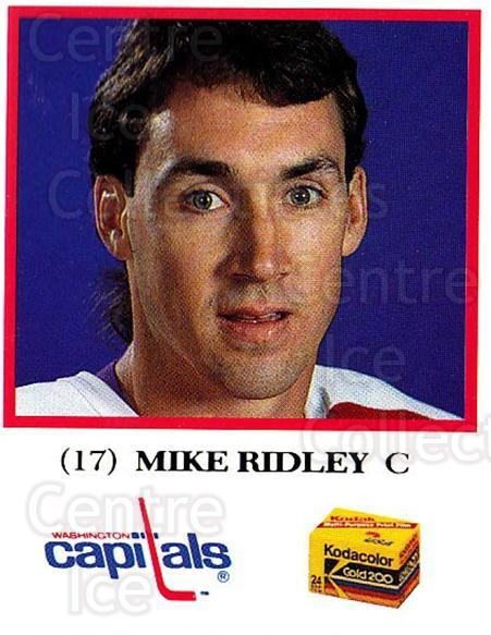 1991-92 Washington Capitals Kodak #23 Mike Ridley<br/>3 In Stock - $3.00 each - <a href=https://centericecollectibles.foxycart.com/cart?name=1991-92%20Washington%20Capitals%20Kodak%20%2323%20Mike%20Ridley...&quantity_max=3&price=$3.00&code=14666 class=foxycart> Buy it now! </a>
