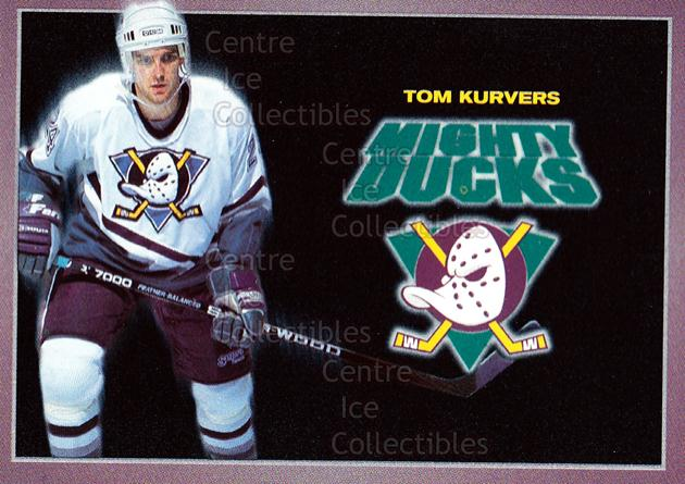 1994-95 Anaheim Mighty Ducks Carls Jr. #14 Tom Kurvers<br/>13 In Stock - $3.00 each - <a href=https://centericecollectibles.foxycart.com/cart?name=1994-95%20Anaheim%20Mighty%20Ducks%20Carls%20Jr.%20%2314%20Tom%20Kurvers...&quantity_max=13&price=$3.00&code=1466 class=foxycart> Buy it now! </a>
